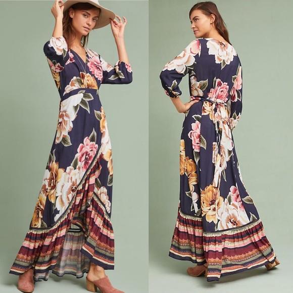c2ded9218775 Anthropologie Dresses | Farm Rio Layla Wrap Dress Nwt | Poshmark